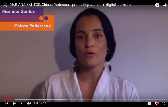 Mariana Santos talking