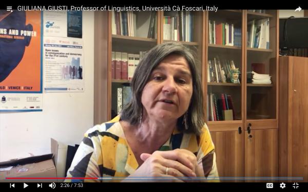 Giuliana Giusti speaking